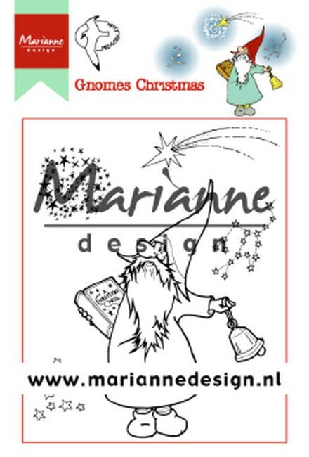 Marianne Design - Hetty Meeuwsen - Clearstamp - Hetty`s Gnomes Christmas - HT1649