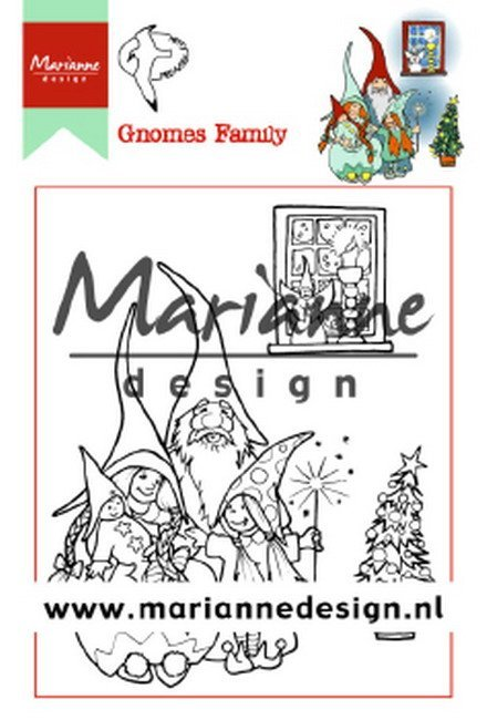 Marianne Design - Hetty Meeuwsen - Clearstamp - Hetty`s Gnomes family - HT1650