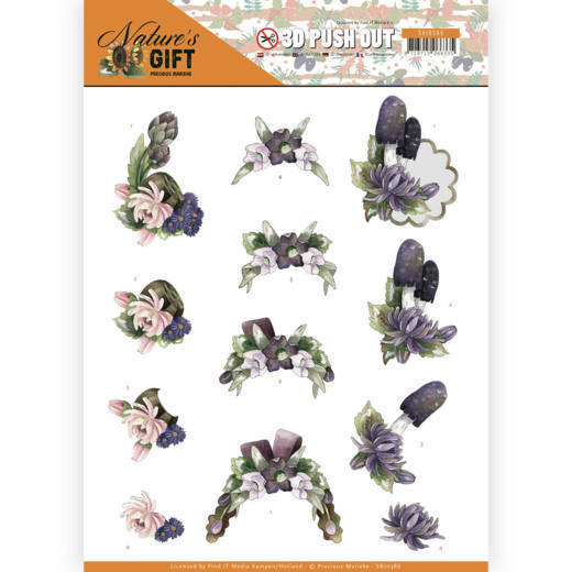 Precious Marieke - (3D-)Stansvel A4 - Nature`s Gift - Purple Gift - SB10386