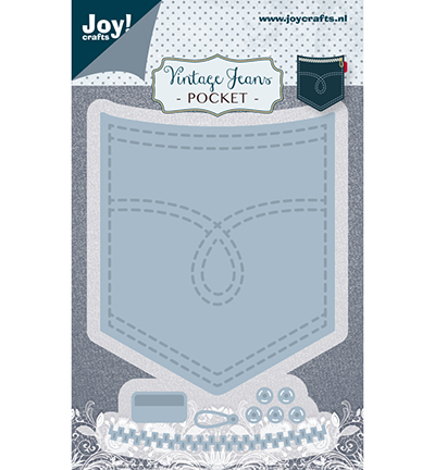 Joy! crafts - Noor! Design - Die - Vintage Jeans - Pocket - 6002/1388