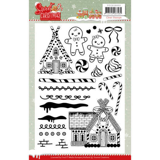 Yvonne Creations - Clearstamp - Sweet Christmas - YCCS10053