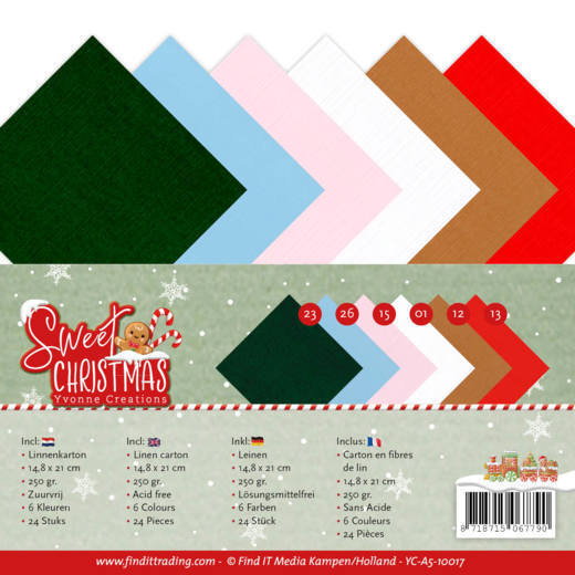 Yvonne Creations - Linnenpakket - 148 x 210mm (A5) - Sweet Christmas - YC-A5-10017