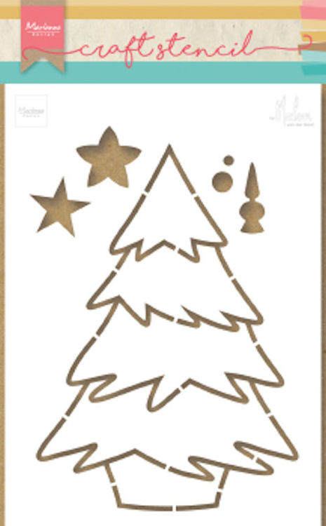 Marianne Design - Stencil - Christmas tree - PS8046