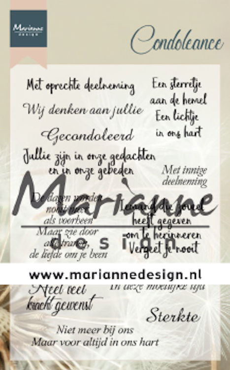 Marianne Design - Clearstamp - Condoleance - CS1041