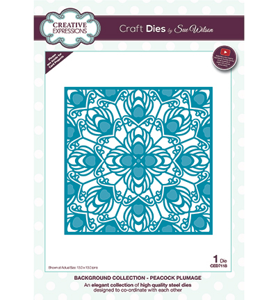Creative Expressions - Die - The Background Collection - Peacock Plumage - CED7118