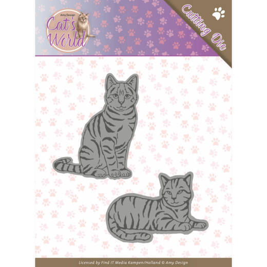 Amy Design - Die - Cat's World - Sweet cats - ADD10187