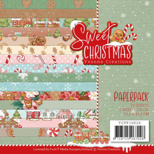 Yvonne Creations - Paperpack - Sweet Christmas - YCPP10026