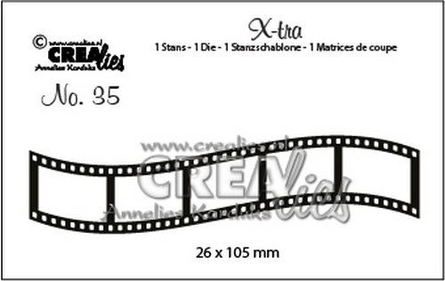 Crealies - Die - Xtra - Curved filmstrip (small) - CLXtra35