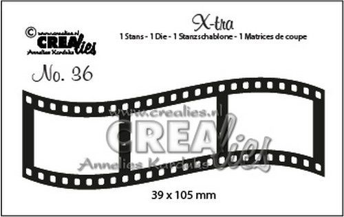 Crealies - Die - Xtra - Curved filmstrip (middle) - CLXtra36