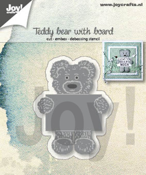 Joy! crafts - Die - Teddy bear with board - 6002/1308