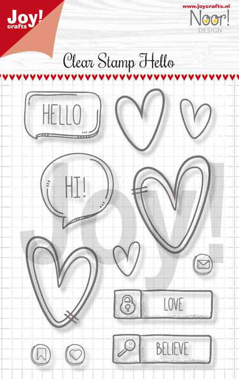 Joy! crafts - Noor! Design - Clearstamp - Hello - 6410/0497