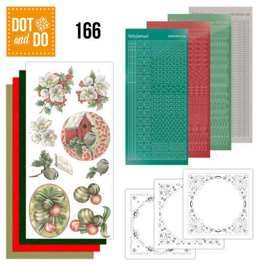 Card Deco - Kaartenpakketten - Dot & Do - No. 166 - Christmas Decorations - DODO166