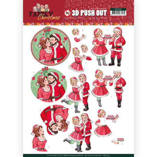 Yvonne Creations - (3D-)Stansvel A4 - Family Christmas - Loving Christmas - SB10391