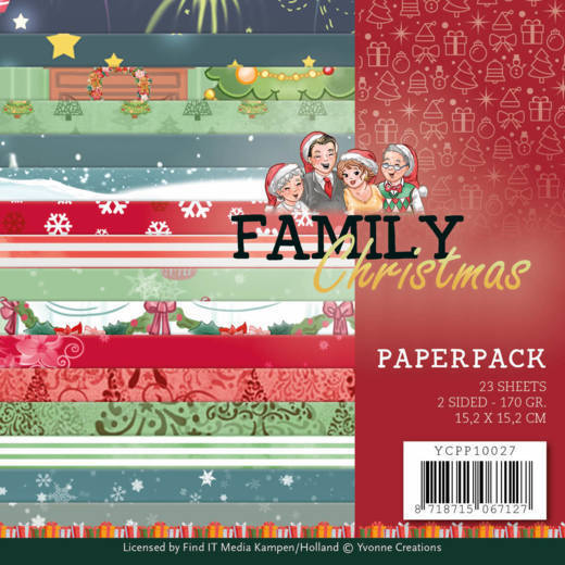Yvonne Creations - Paperpack - Family Christmas - YCPP10027