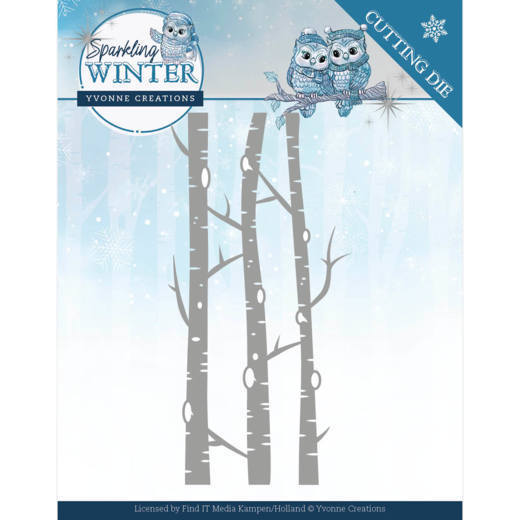 Yvonne Creations - Die - Sparkling Winter - Birch Trees - YCD10188
