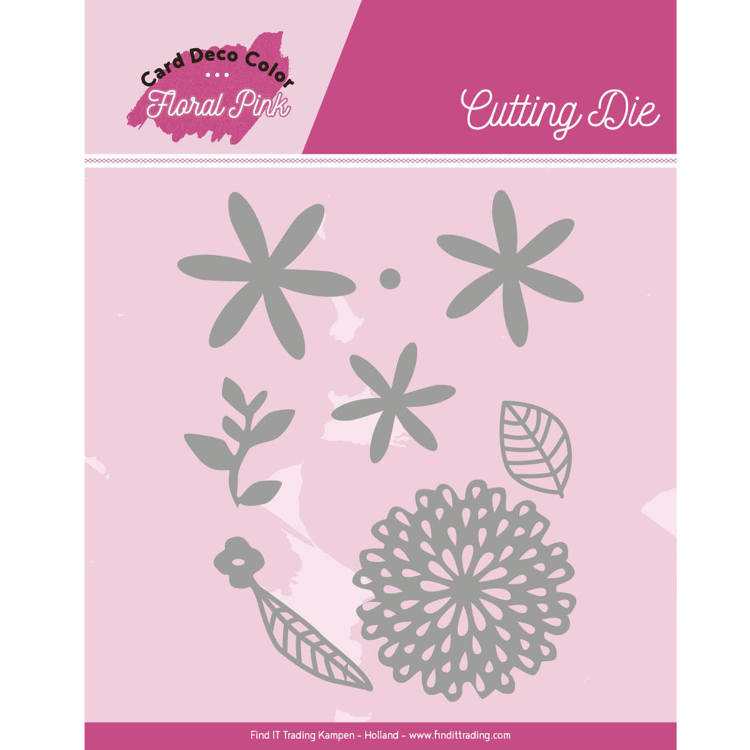 Yvonne Creations - Die - Floral Pink - Floral Pink Flowers - CDCCD10001