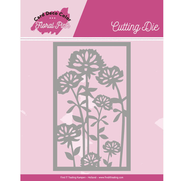 Yvonne Creations - Die - Floral Pink - Floral Pink Frame - CDCCD10003
