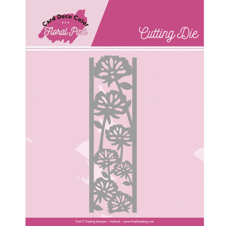 Yvonne Creations - Die - Floral Pink - Floral Pink Border - CDCCD10004