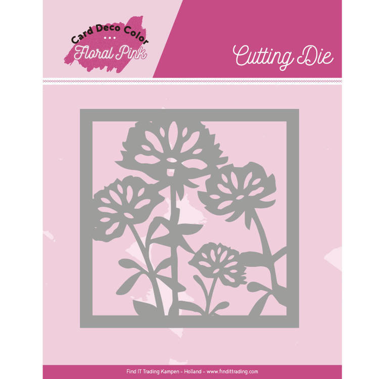 Yvonne Creations - Die - Floral Pink - Floral Pink Square - CDCCD10005