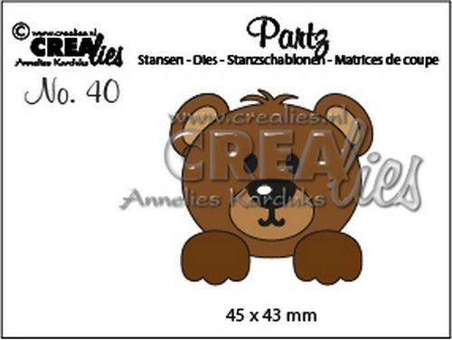 Crealies - Die - Partz - No. 40 - Bear - CLPartz40