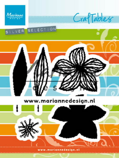 Marianne Design - Die - Craftables - Open flowers - CR1493