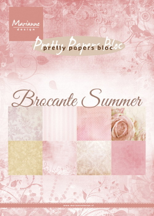 Marianne Design - Paperpack - Pretty Papers - Brocante Summer - PK9166