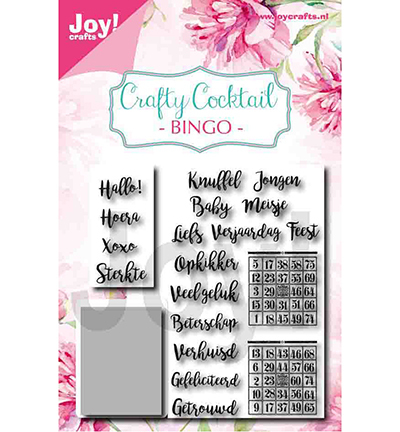 Joy! crafts - Noor! Design - Die met clearstamp - Crafty Cocktail - Bingo - 6004/0039