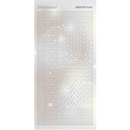 Hobbyjournaal - Stickervel - Hobbydots - Serie 12 - Adhesive: Pearl Zilver - STDP122