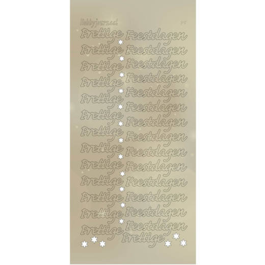 Hobbyjournaal - Stickervel - Hobbydots - Serie PF - Adhesive: Pearl Goud - STDPPF1