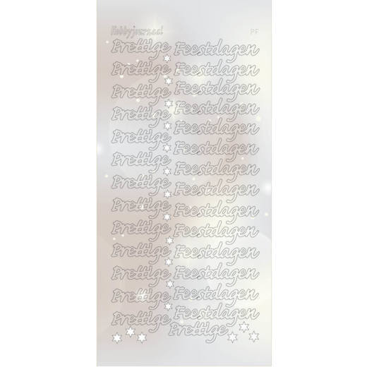 Hobbyjournaal - Stickervel - Hobbydots - Serie PF - Adhesive: Pearl Zilver - STDPPF2