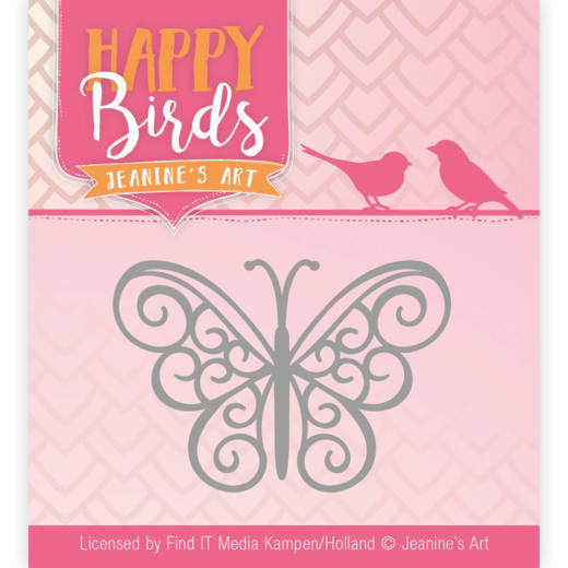 Jeanine`s Art - Die - Happy Birds - Happy Butterfly - JAD10096