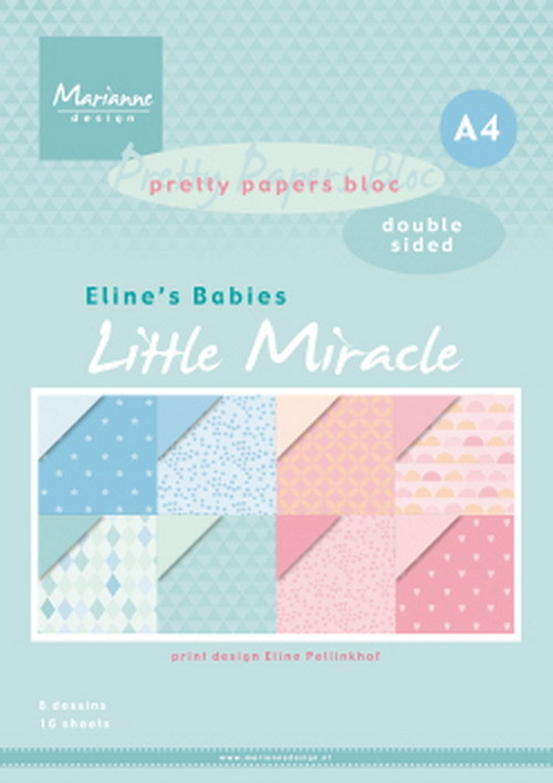 Marianne Design - Paperpack - A4 - Pretty Papers - Eline`s babies Little Miracles - PB7058