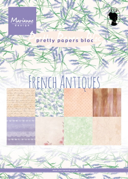 Marianne Design - Paperpack - Pretty Papers - French Antiques - PK9167