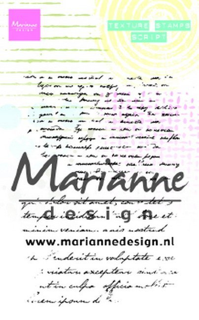 Marianne Design - Clearstamp - Texture Stamp - Script - MM1627