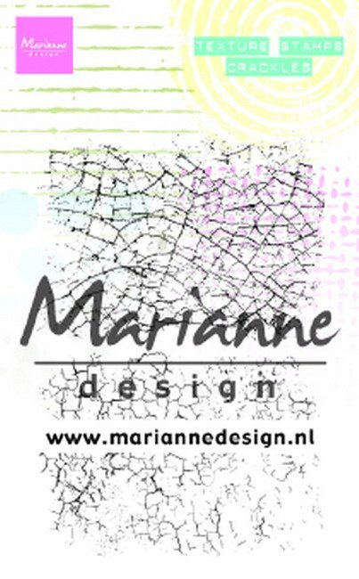 Marianne Design - Clearstamp - Texture Stamp - Crackles - MM1628