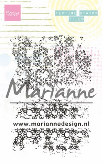 Marianne Design - Clearstamp - Texture Stamp - Tiles - MM1629