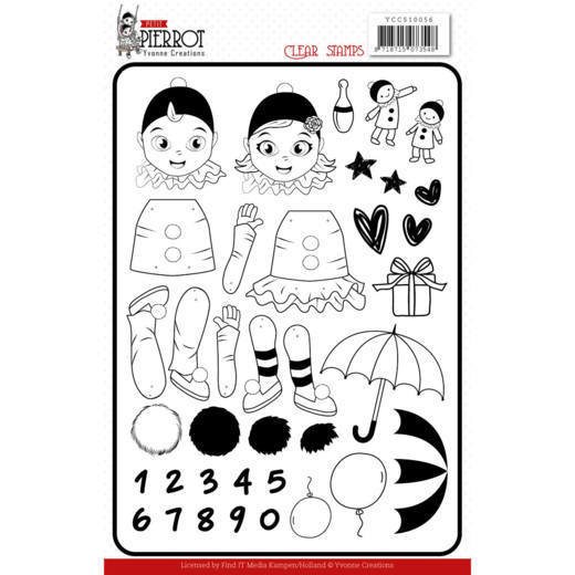 Yvonne Creations - Clearstamp - Petit Pierrot - YCCS10056