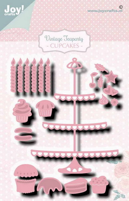 Joy! crafts - Noor! Design - Die - Vintage Teaparty - Cupcakes - 6002/1469