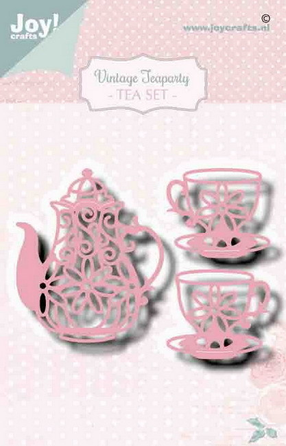 Joy! crafts - Noor! Design - Die - Vintage Teaparty - Tea Set - 6002/1470