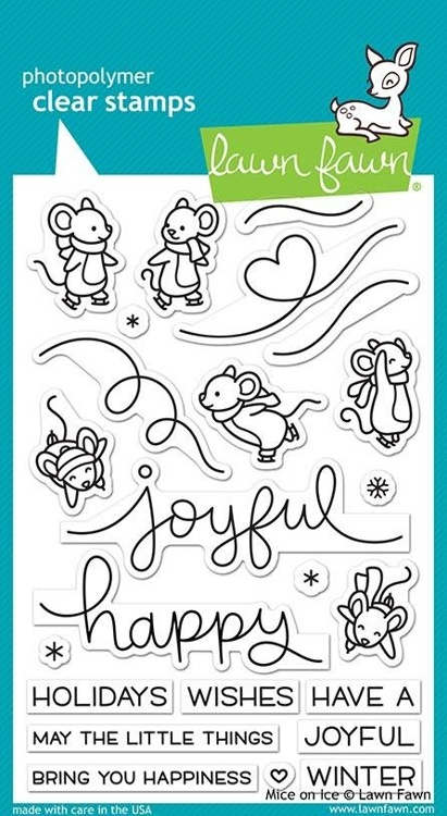 Lawn Fawn - Clearstamps - Mice on ice - LF2031