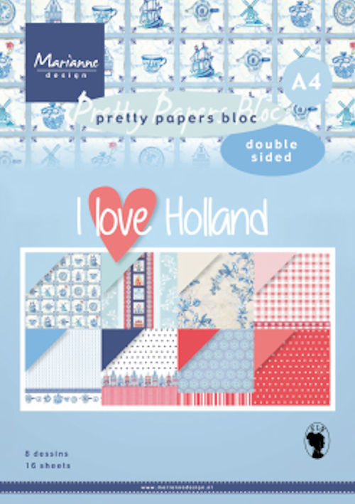Marianne Design - Paperpack - A4 - Pretty Papers - I love Holland - PK9168