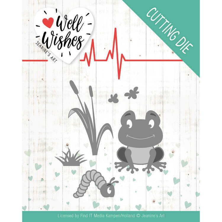 Jeanine`s Art - Die - Well Wishes - Smiling Frog - JAD10094