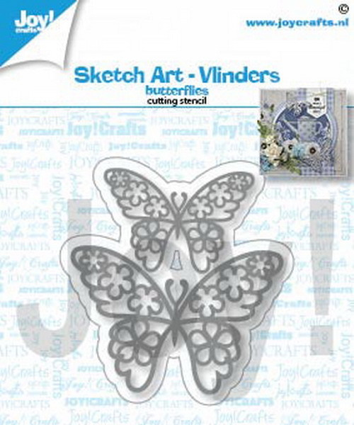Joy! crafts - Die - Sketch Art - Vlinders - 6002/1462