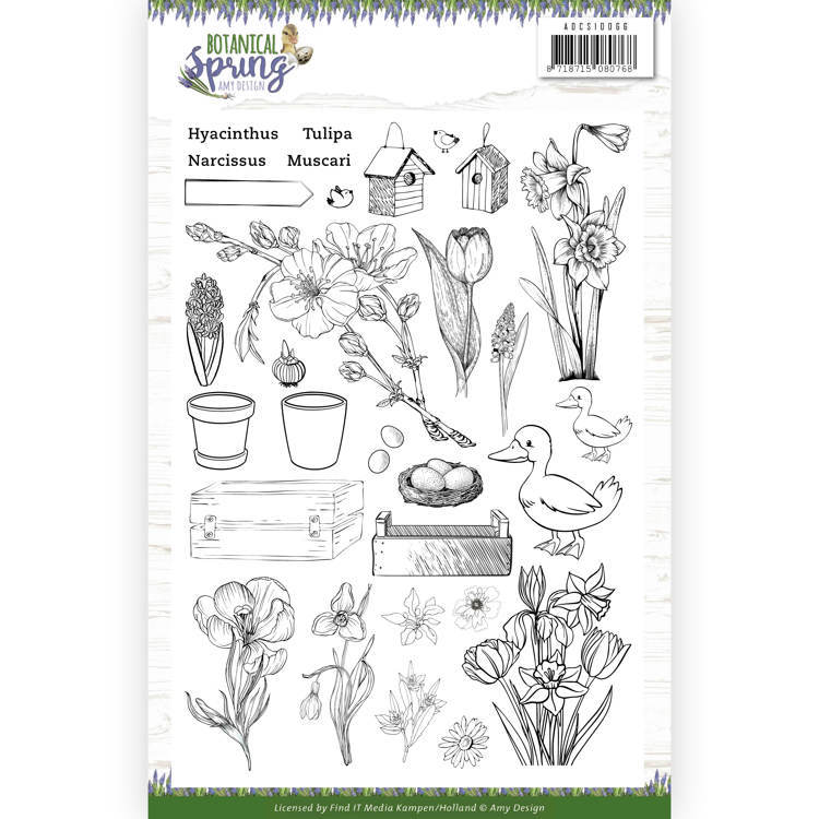 Amy Design - Clearstamp - Botanical Spring - ADCS10066
