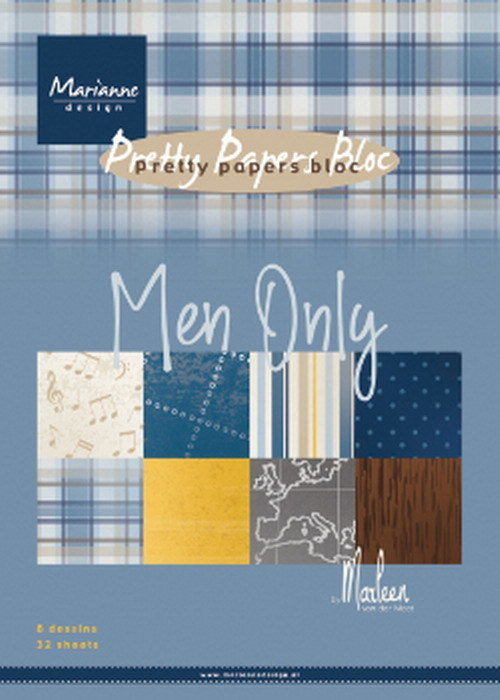 Marianne Design - Paperpack - A5 - Pretty Papers - Men only - PK9169