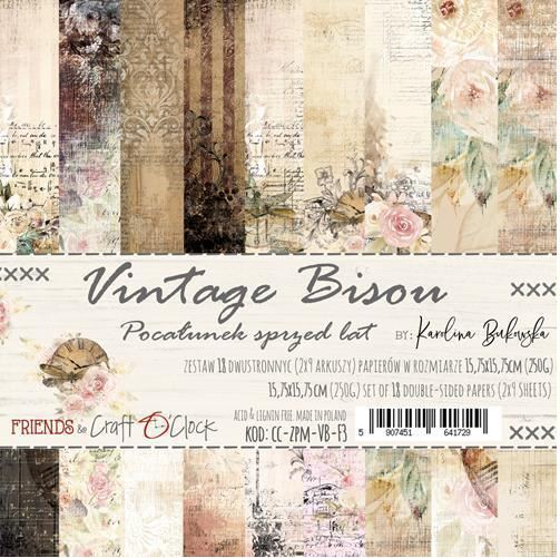 Craft O`Clock - Paperpack - Vintage Bisou - CC-ZPM-VB-F3