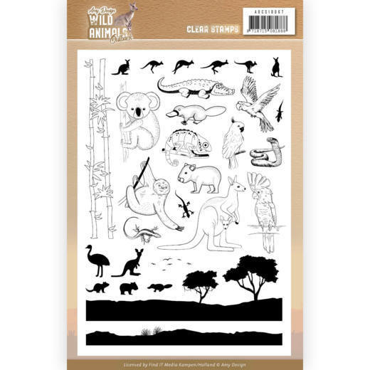 Amy Design - Clearstamp - Wild Animals Outback - ADCS10067