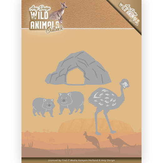 Amy Design - Die - Wild Animals Outback - Emu and Wombat - ADD10207