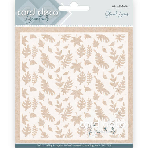 Card Deco Essentials -  Maskingstencil - Leaves - CDEST009