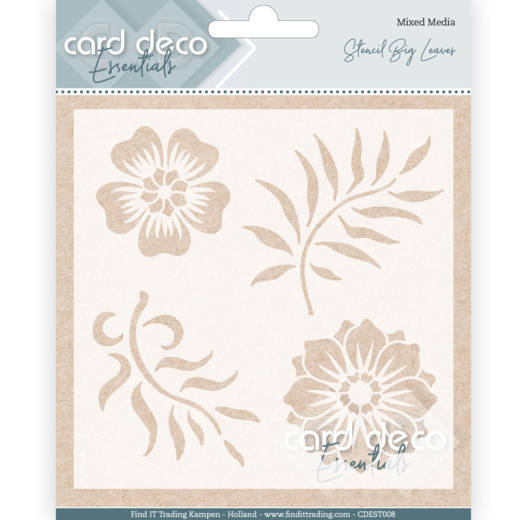 Card Deco Essentials -  Maskingstencil - Big Leaves - CDEST008